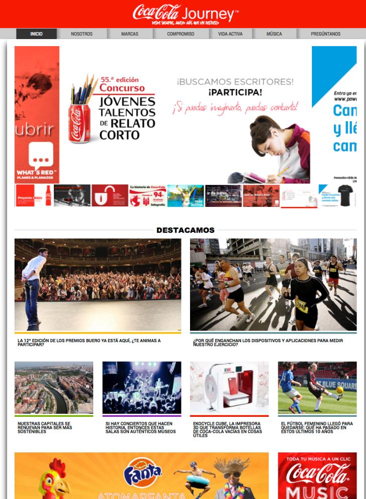 Coca Cola España cierra su web corporativa y apuesta por los contenidos