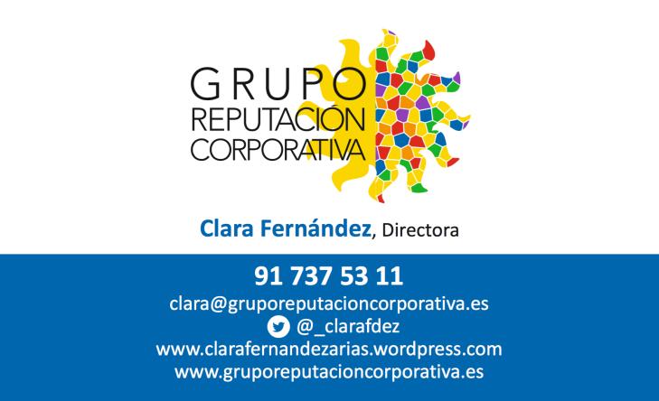 Datos Contacto, Clara Fernández, Directora Grupo Reputación Corporativa